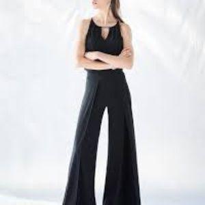 NWT WHBM black knit jumpsuit